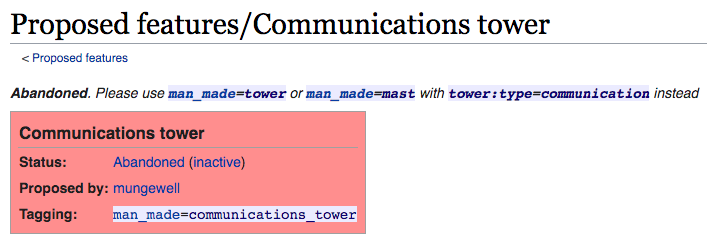 Abandoned. Please use man_made=tower or man_made=mast with tower:type=communication instead
