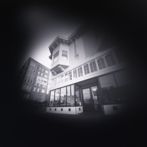 de Young Art Center, pinhole photograph (2005)